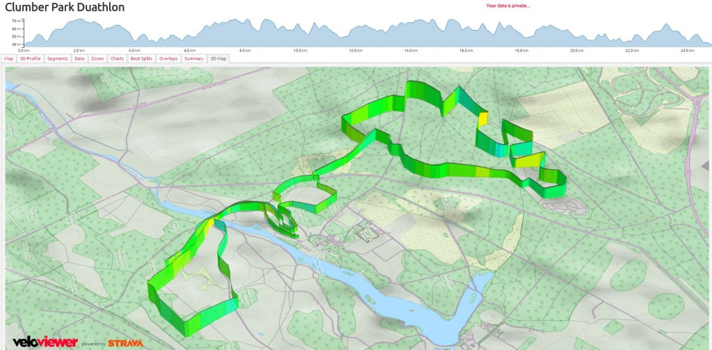 Elevation and 3D Map from VeloViewer.com